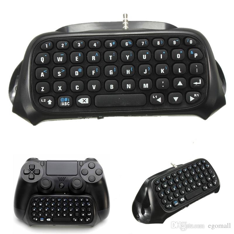 Hot Sale Wireless Bluetooth Chatpad Message Keyboard for Sony for PlayStation 4 for PS4 Controller Black