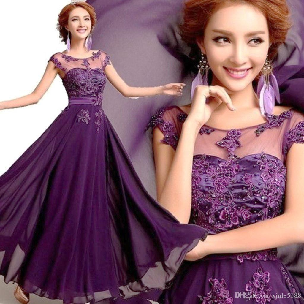 New purple long chiffon bridesmaid evening formal party ball gown new purple long chiffon bridesmaid evening formal party ball gown prom dress bridesmaid dresses online with 5942piece on xinle5188s store dhgate ombrellifo Images