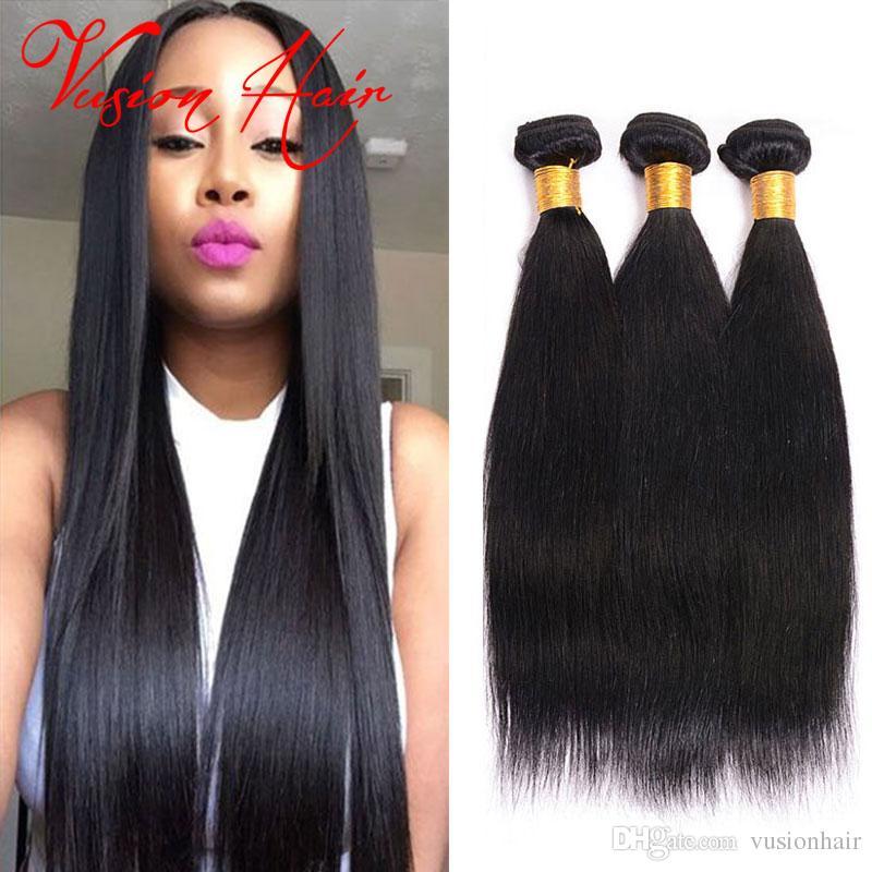 Vusionhair Malaysian Hair Straight Good Cheap Weaves Remy Human Hair