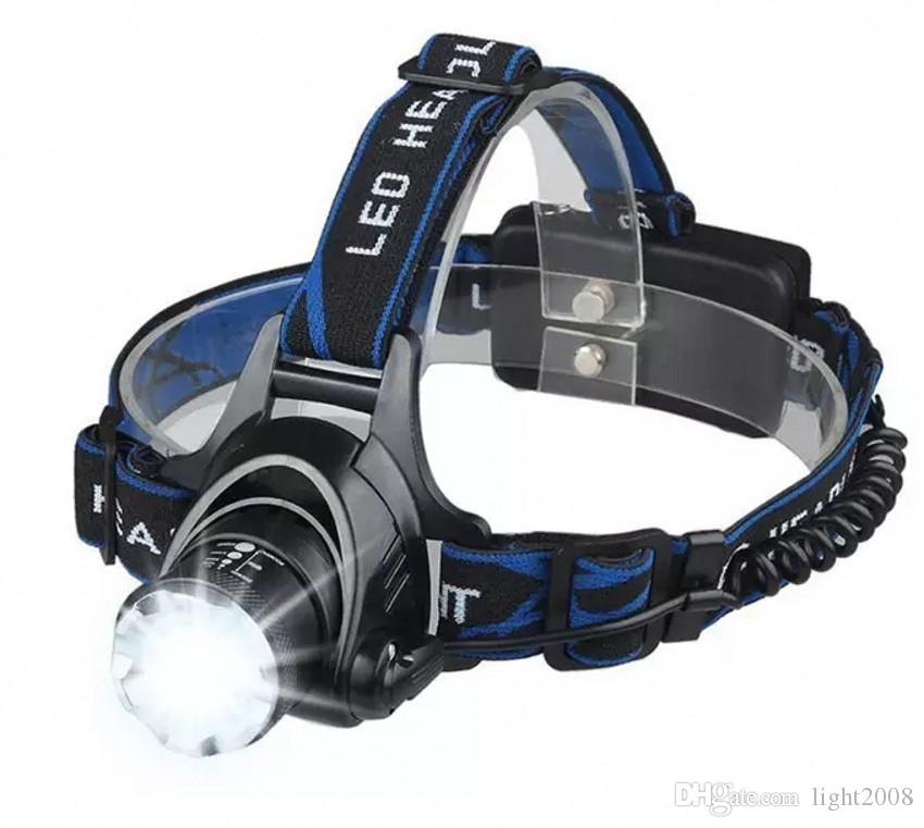 Bitianteam Powerful CREE XML T6 headlights headlamp Zoom waterproof 18650 rechargeable battery Led Head Lamp Bicycle Camping Hiking Light