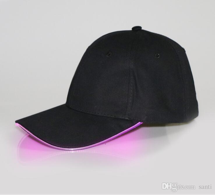 Tessuto del cappello di incandescenza del cappello leggero del LED i berretti da baseball adulti 7 luminosi colori la dimensione di adeguamento di selezione Partito di natale