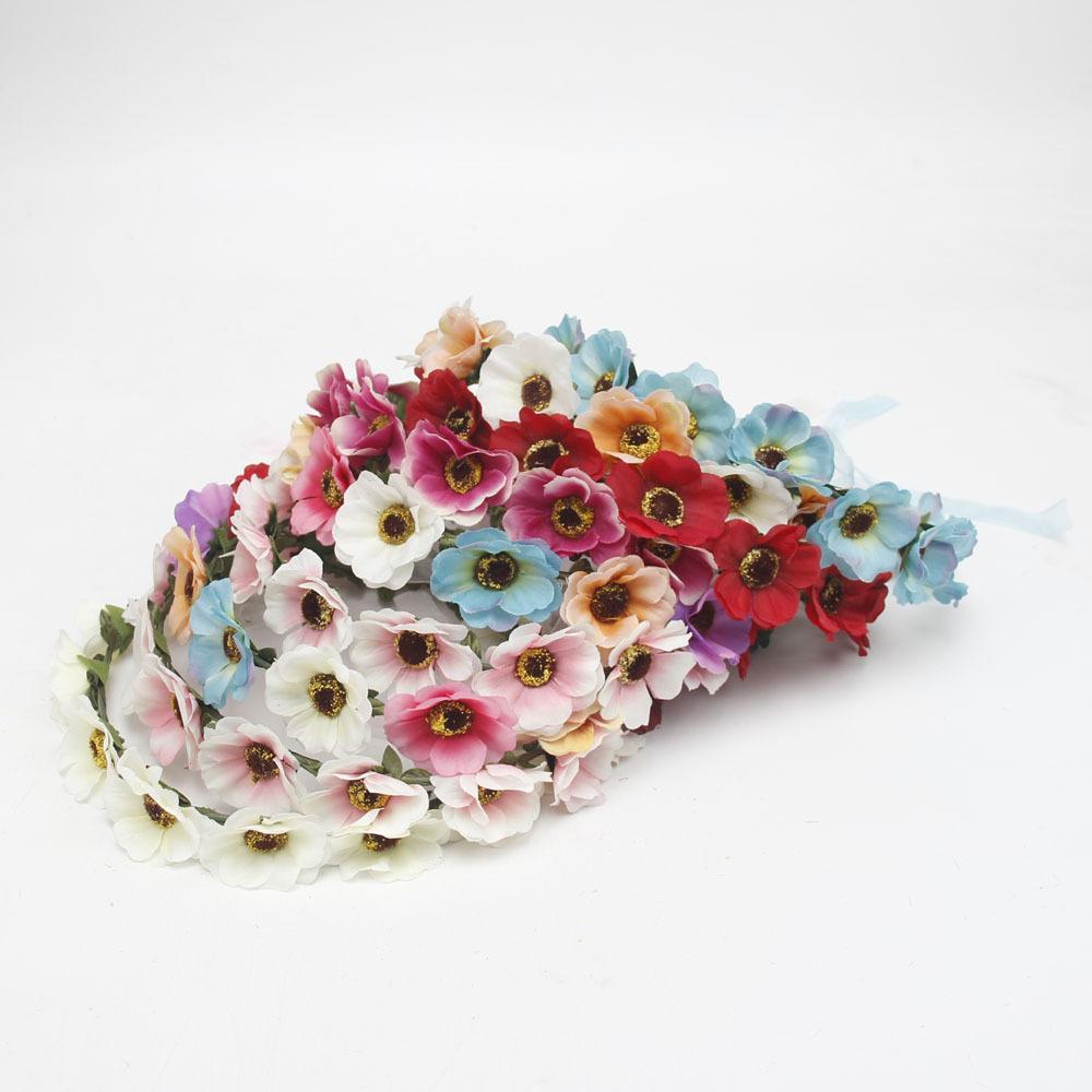 2017 new Boho Daisy Hair Bands for Women Hair Accessories New Headbands Flower Hair Garland Bohemian beach flower bridal wreath