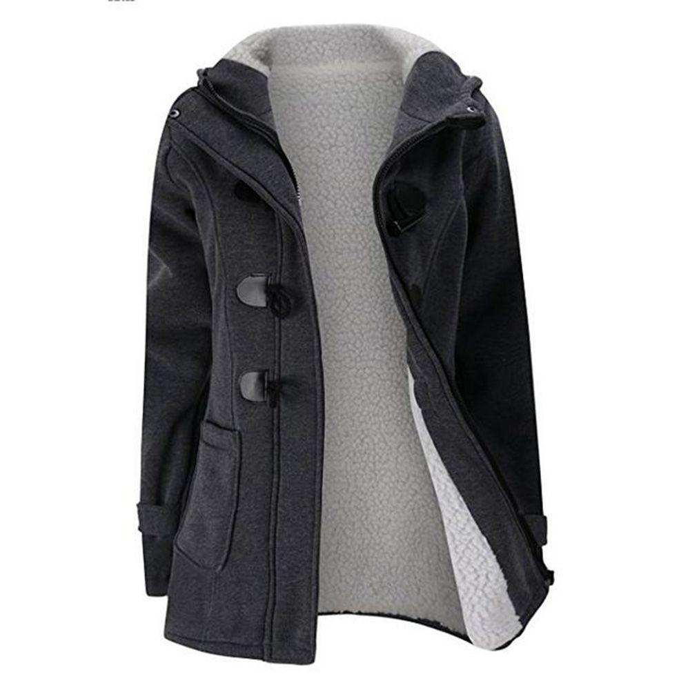 50c14a9e189 New Women s Casual Fleece Lined Winter Warm Coat Hooded Jacket