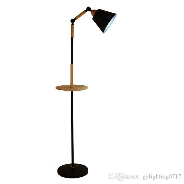 Good 2019 Black White Nordic Wood Floor Lamp Kids Room Decoration Floor Stand  Light For Living Room Bedside Reading Lighting Standlampe From  Gylighting0717, ...