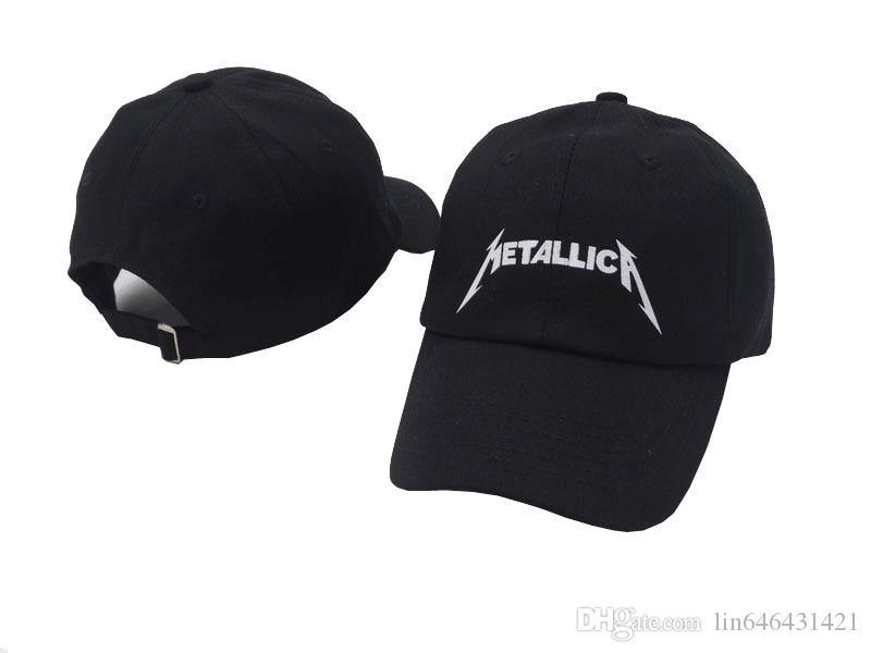 c0b87d95a8f Black Metallica Hat Baseball Cap Strapback Adjustable Unstructured Dad Hat  Star Boy Girl Hip Hop Hats 6 Panel Xo Bone Gorras Casquette Swag  Embroidered Hats ...