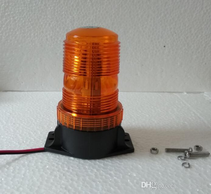 DC12V - 110V 15W 자동차 / 트럭 / 밴 경고등, 비상등, 스트로브 라이트, 호박색 깜박이 비콘, 볼트로 마운트, 방수