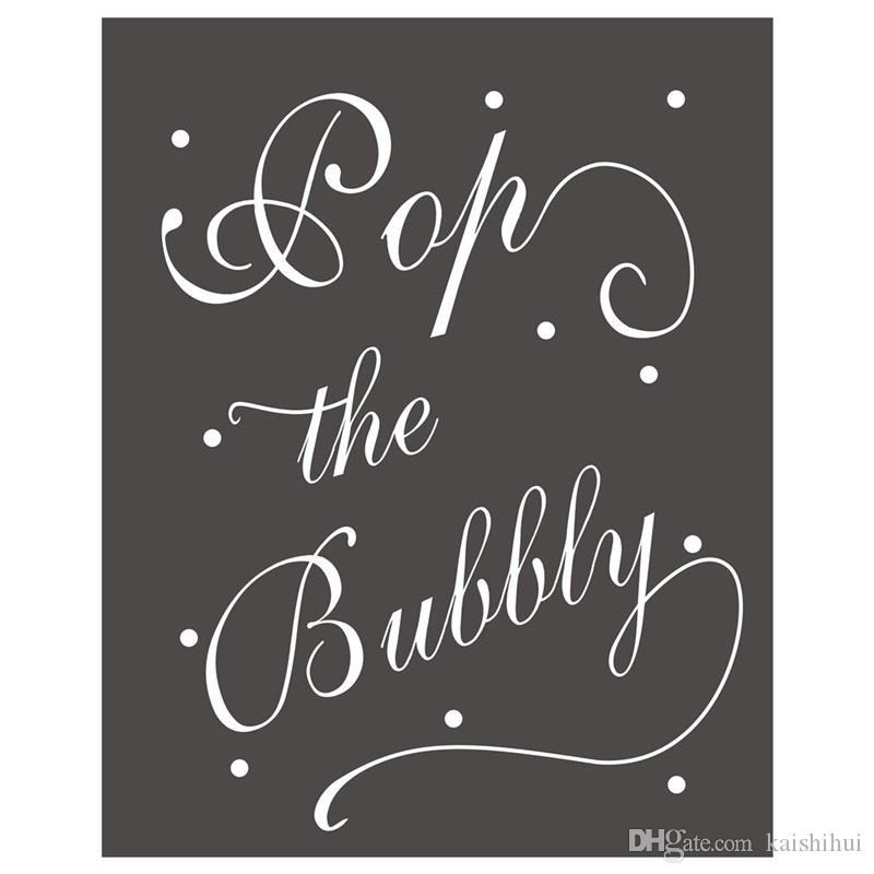 Chalk Sign Pop The Bubbly Chalkboard Chalksign For Home And Kitchen Decoration Shop Wall Decor Vases From
