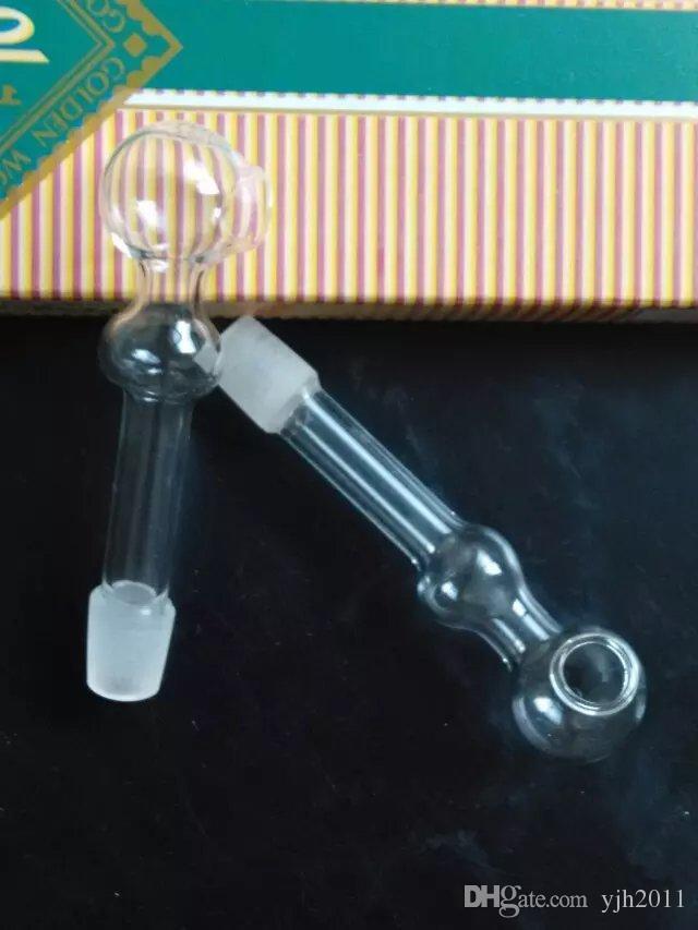 泡ガラスのまっすぐな燃焼鍋の水のアクセサリー、新しいユニークなオイルバーナーガラスパイプの水道管のガラス管石油リグが喫煙