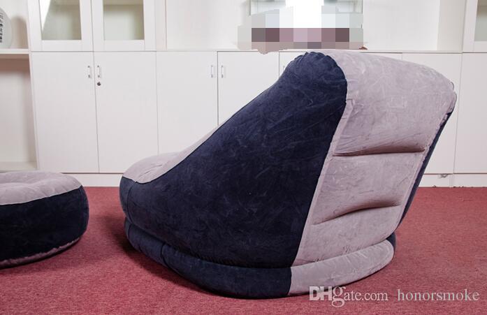Pranzo pigro gonfiabile il tempo libero pieghevole Set divano il tempo libero con pedale Poggiapiedi Letto da letto sedia moderna con scatola al minuto Mobili di grandi dimensioni