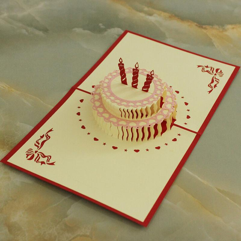Wholesale hotsale birthday invitation card handmade party invitation wholesale hotsale birthday invitation card handmade party invitation 3d cake delicate carved pattern invitation de mariage 3d paper craft e greeting card e stopboris Image collections
