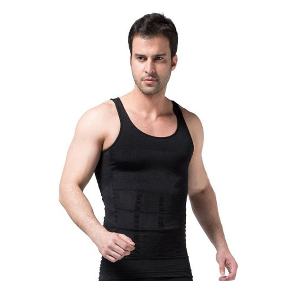 d6eb2ac4b223d New Design Men s Vest Control Body Slimming Shaper Vest Hiding Belly ...