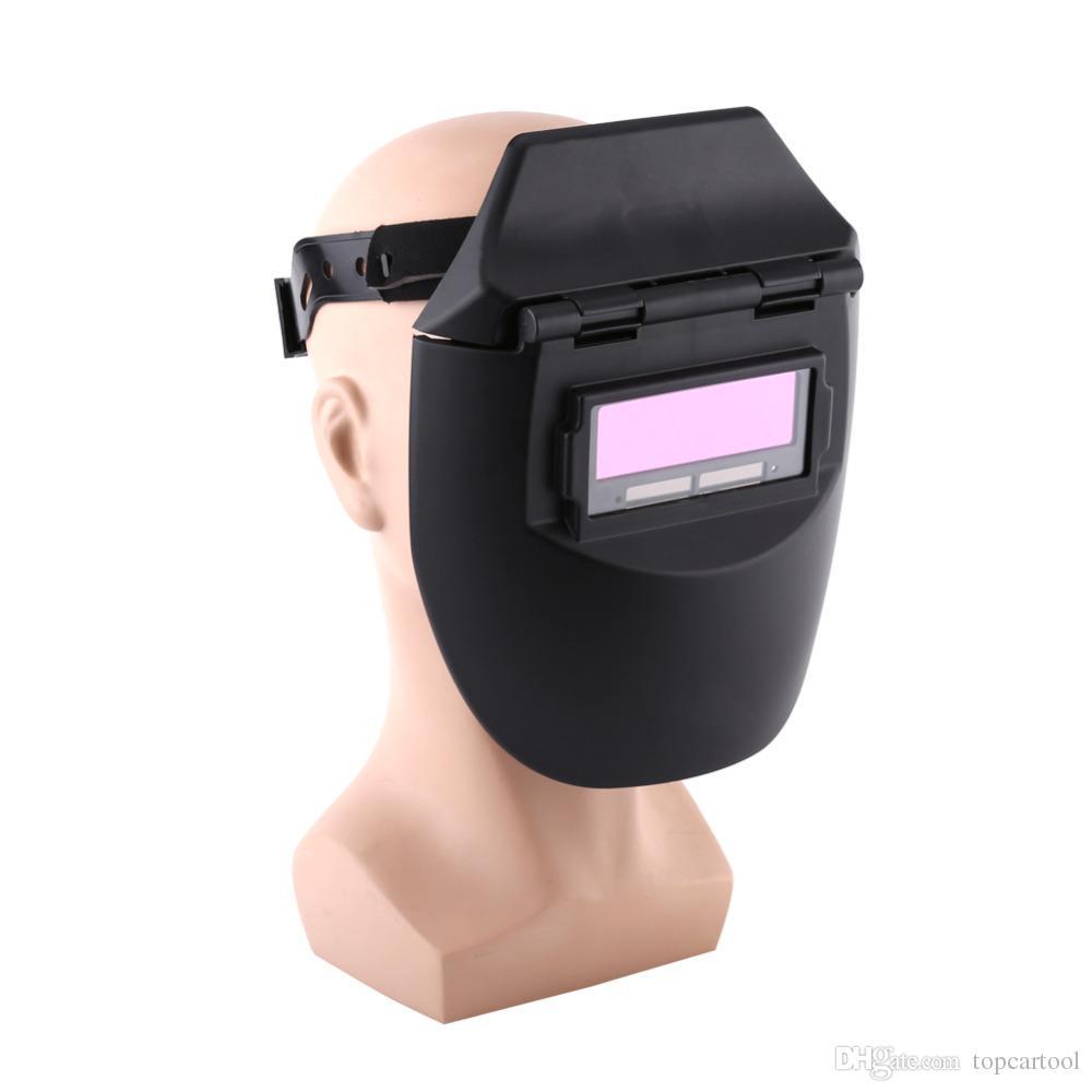 Venda quente Auto Escurecimento Capacete De Solda Tig Mig Soldador Máscara Lentes Solar Powered Cap Para Soldar