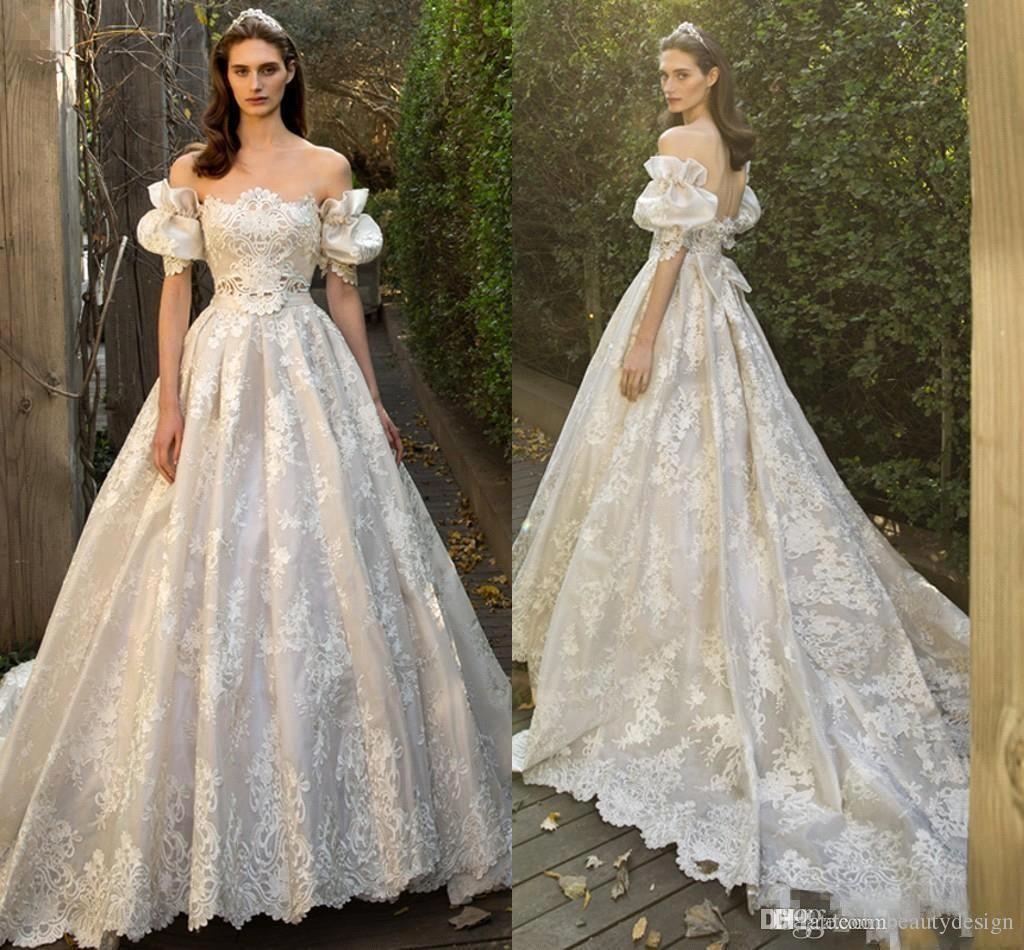 Fairy Juliet Vintage Lace Wedding Dresses With Off Shoulder 2018 Princess  Church Train Backless Garden A Line Bridal Gowns Cheap Wedding Dresses Plus  Size ... 97d4d4ac7ce9