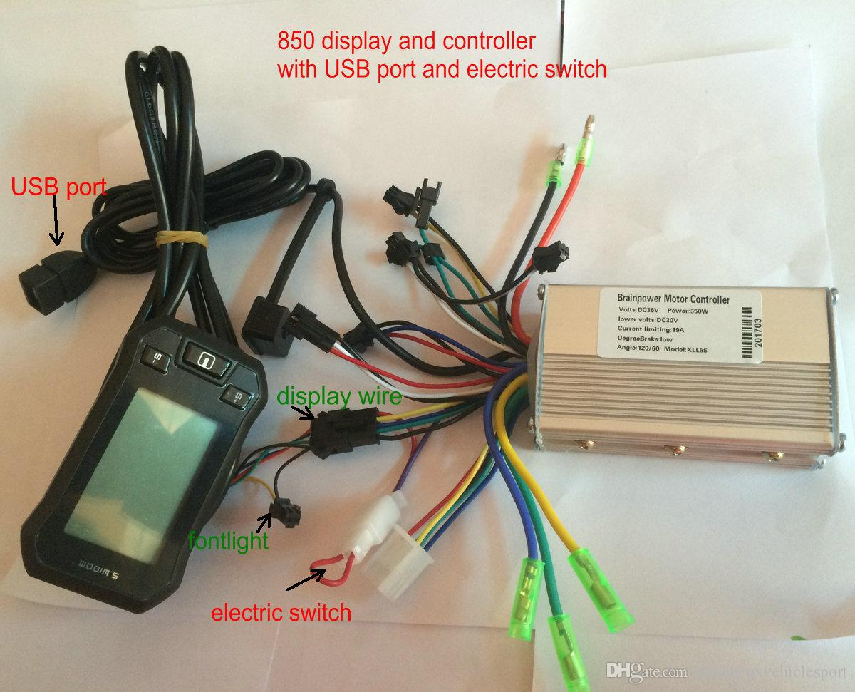 Electric Scooter Lcd Display Controller 24v36v48v 250w350w Cycle Wiring Diagram For Conrtrol Panel Sensor Hall Sensorless Ebike Tricycle Parts And
