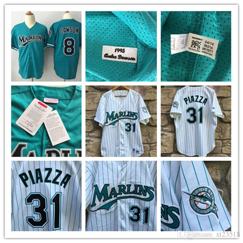 74a36ac77dd ... 2017 mens florida marlins andre dawson 1995 mesh bp jerseys white 1998  31 .