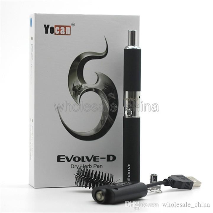 本格的なYOCAN EVOLVE-DキットEvolve Kitsドライハーブ電子タバコ気化器デュアルコイル5色Vape Pen Plus