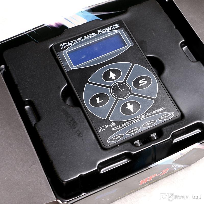 Hurricane HP-2 Powe Supply Digital Dual LCD Display Tattoo Power Supply