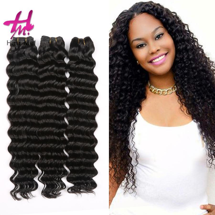 Deep Wave Brazilian Hair Extensions 3 BoundlesNatural ...