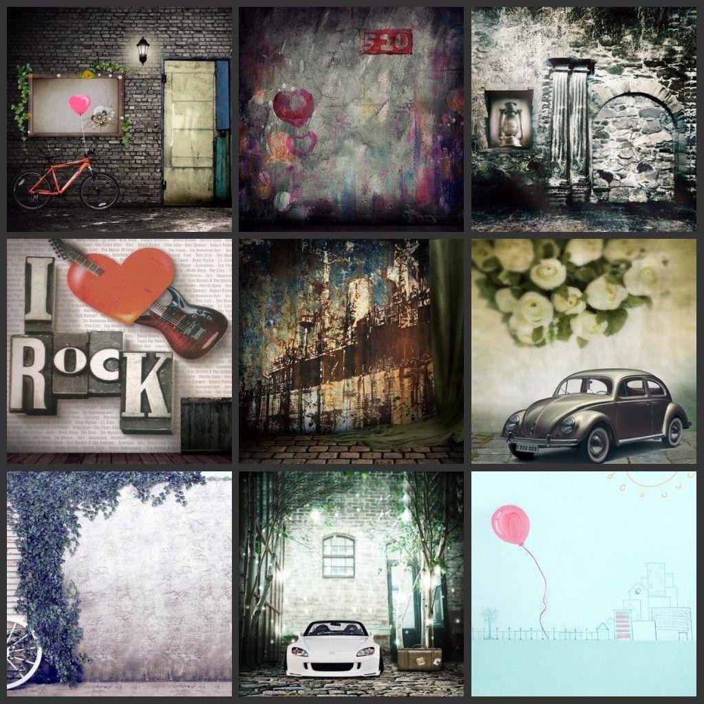 wholesale custom 5x8FT brick wall backdrop rock music for camera studio photography background digital photos vinyl backdrops wedding props