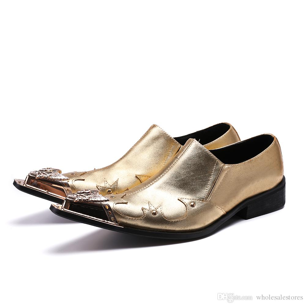 Gold Suit Shoes