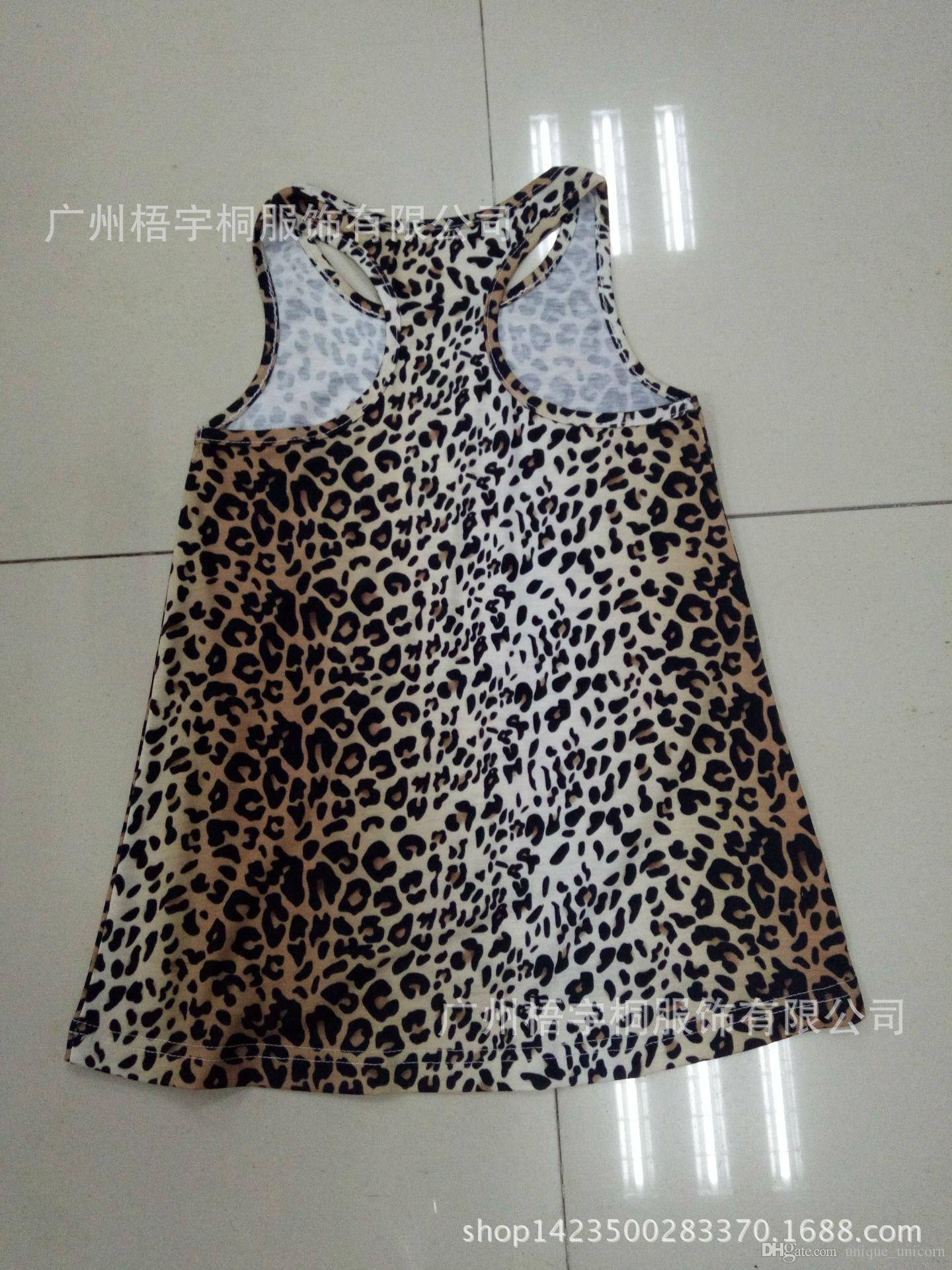 2017 Summer mother and daughter tops women sexy leopard printed t-shirt vest kids baby girl sundress beach holiday tops
