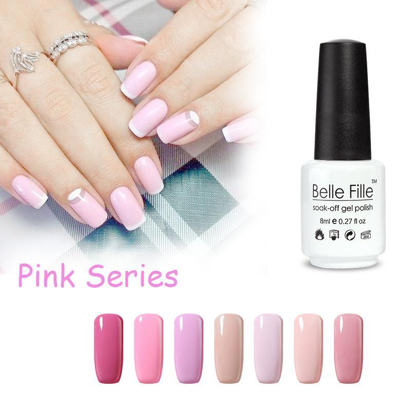 Wholesale Uv Nail Gel Polish Belle Fille Angel Pink Gel Nail Polish ...
