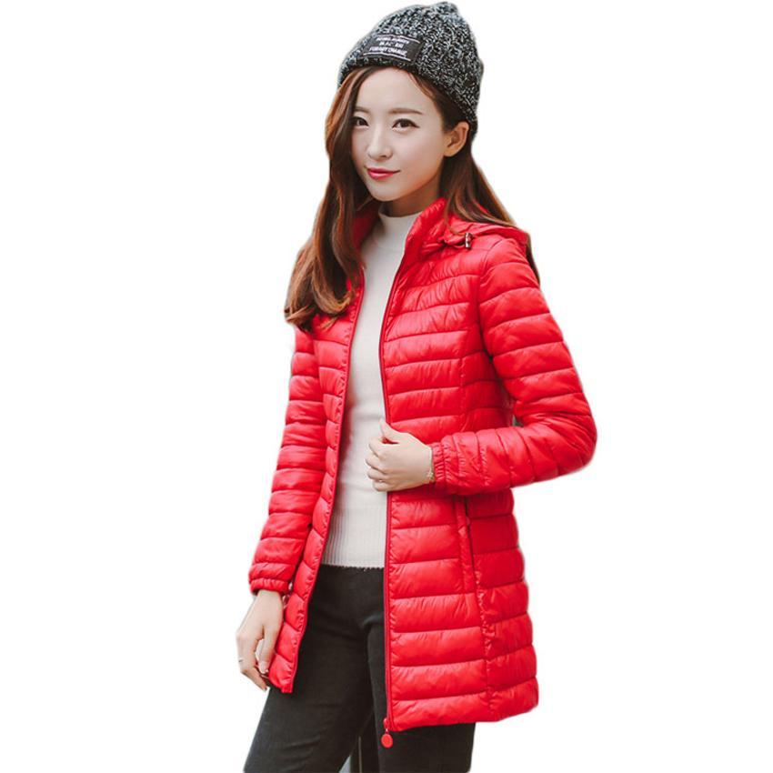 BOoDinerinle Plus Size giacca da donna Cappello può essere smontato leggero piumino cotone giacca invernale Giacca Slim Basic cappotto MY005