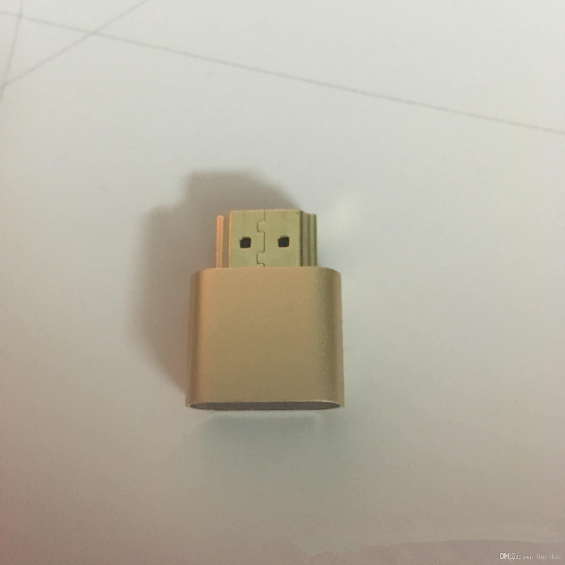 New HDMI DDC EDID Dummy Plug Headless Ghost Display Emulator for PC / Mac Mini VGA DVI DP HDMI dummy plug