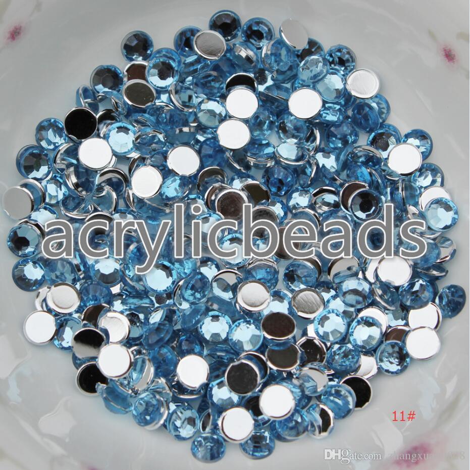 Cheap Colors 6MM Flat Back Acrylic Diamonds Rhinestone Beads Embelishment Appliques for Clothing Craft Making