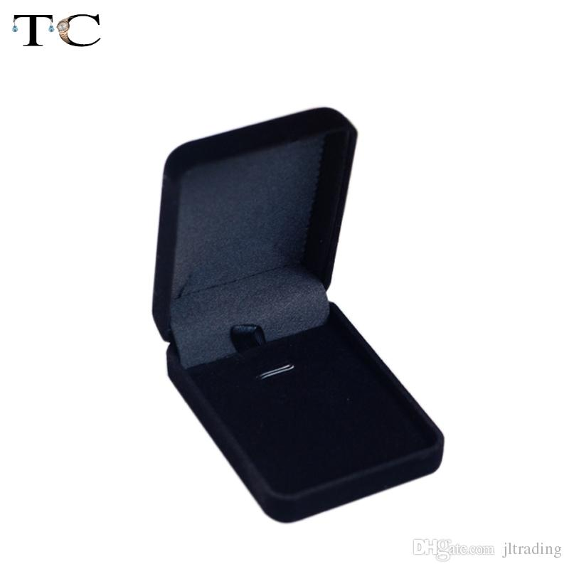 Velvet Box High Quality Square Jewelry Box For Pendant & Necklace Jewelry Gift Boxes Packaging