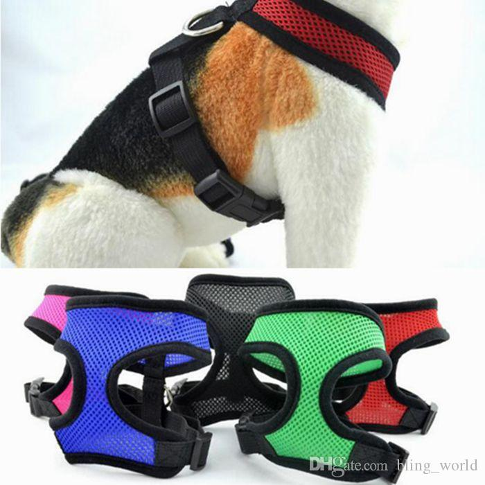 Nylon Pet Mesh Harness Soft Net Hund Mini Weste einstellbar atmungsaktiv Puppy Harness Hund liefert 21 Designs