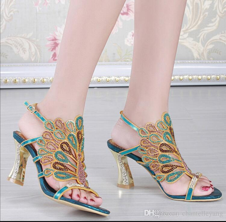 Bridal Shoes Crystals Wedding Shoes for Bride Sandal Women Sheepskin Beads Stone Bridesmaid Prom Party evening Shoes 2017