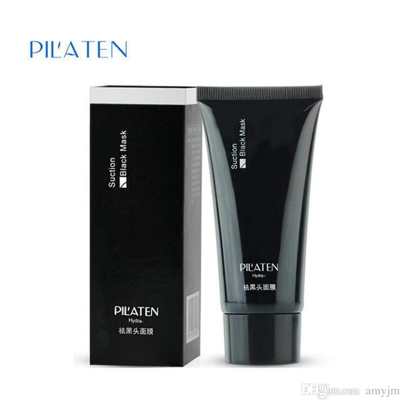 retail PILATEN Black mask Tearing style Deep Cleansing purifying peel off the Blackhead acne treatment black mud remover 60g