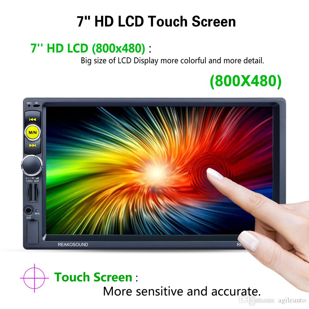 DHL Free 7 Inch HD 2 Din Bluetooth Car Stereo MP5 Player GPS Navigation AM FM RDS Radio Support Mirror Link Aux + Rear View Camera CMO_22H