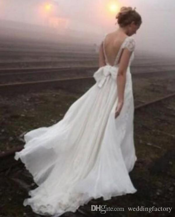 근사한 나라 웨딩 드레스 라인 스트랩 섹시한 backless 파란색 페르시 아플리케 장식 대장갑과 신부 가운 맞춤 제작