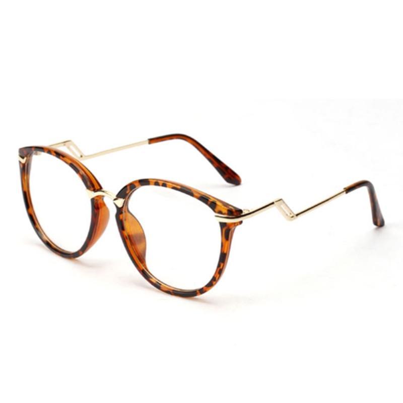 2018 Wholesale Glasses Frame Vogue Round Nerd Glasses Semi Metal ...