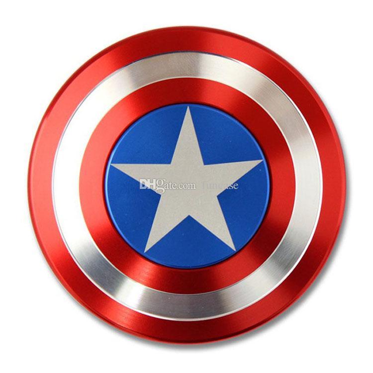 Creative Captain America Shield Hand Spinner Iron Man Fid Spinner