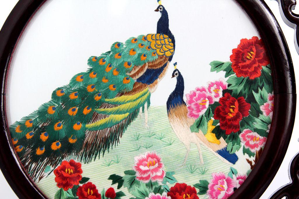 Chengdu Shu Brocade Chuan embroidery double-sided embroidery handicrafts embroidery ornaments Chinese style souvenir gifts