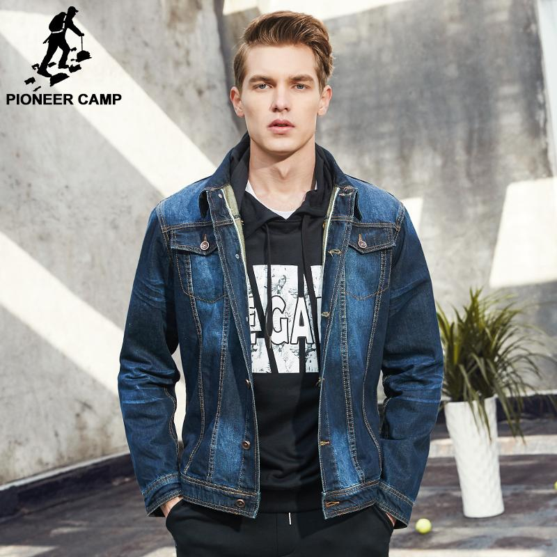 Wholesale Pioneer Camp Men Denim Jacket Brand Clothing 100%cotton ...