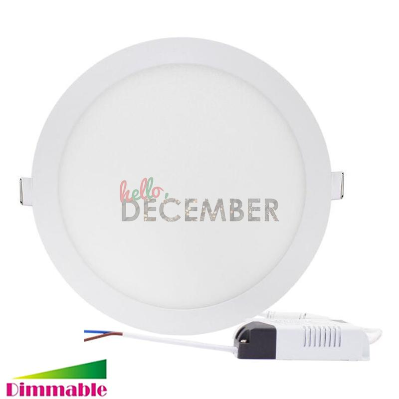 6b86baee1a1c3 2019 Dimmable Round   Square LED Panel Light AC DC 12V 9W 12W 15W 18W 21W  30W Recessed LED Ceiling Lamps Downlight From Ledecember