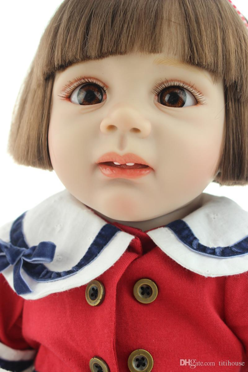 Silicone Reborn Doll Looks Like Real Baby 24 inch Girl Reborn Baby Doll Life Size Baby Toy For Girl Fashion Finished Doll