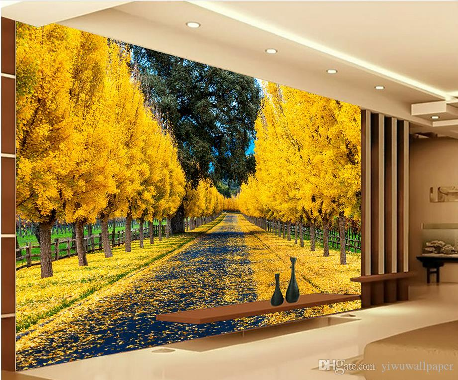 Fashion Decor Home Decoration For Bedroom Golden Avenue Landscape ...