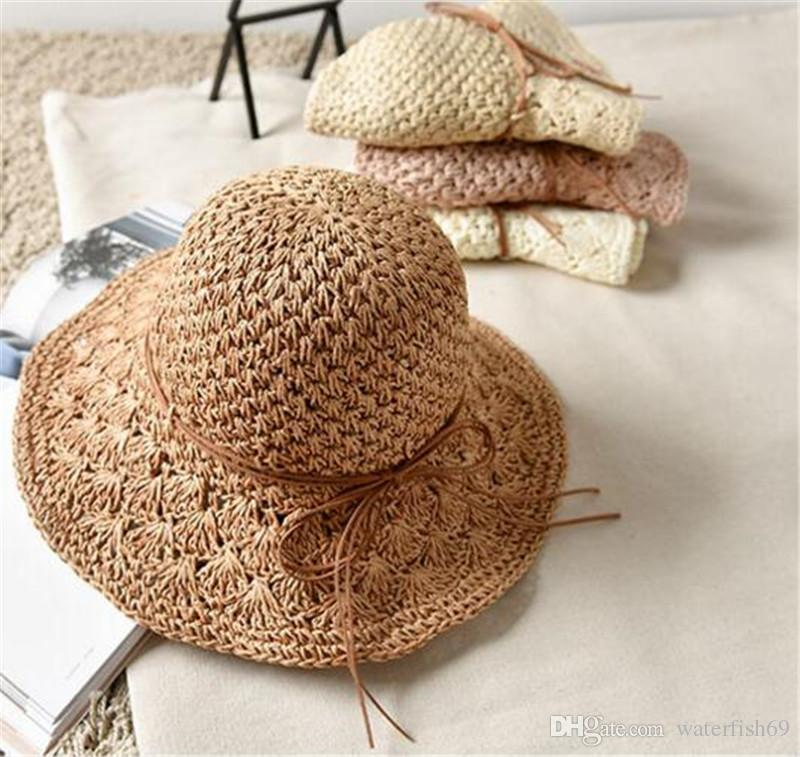 2017 New Summer Mother And Kids Straw Hats Fedora Hat Children Visor Beach Sun Baby Girls Sunhat Wide Brim Floppy Panama For Girl