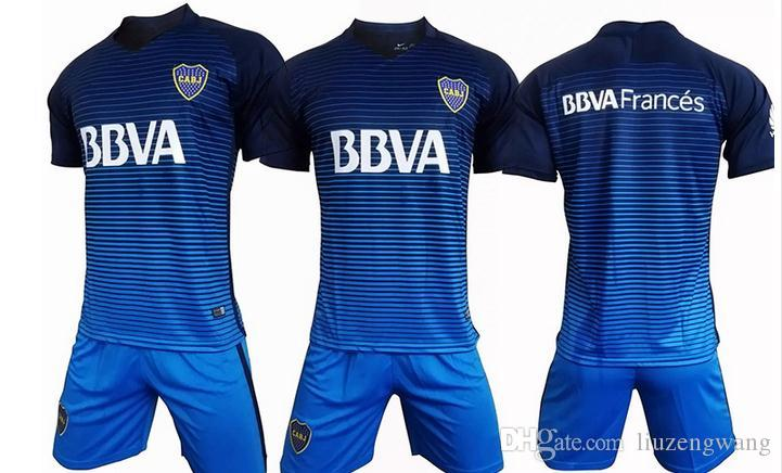 Online Cheap 2017 2018 Boca Juniors Blue Black Olives
