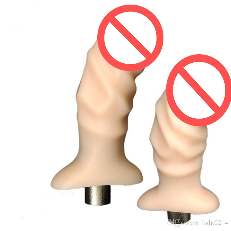 Finger Sex Gun Dildo sex Machine head Flesh 11*4cm The Thumb Coarse Dildo for Female Sex Machine Accessories Sex Dildo for Women E5-2-28