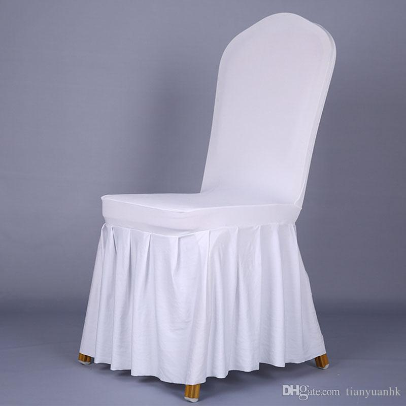 Pleated Skirt Elastic Sleeve Cover Hotel Hotel Chair Chair Wedding Chair  Sets Banquet Chairs Sets Of Cover Chair And Ottoman Slipcover Set Chair  Covers To ...