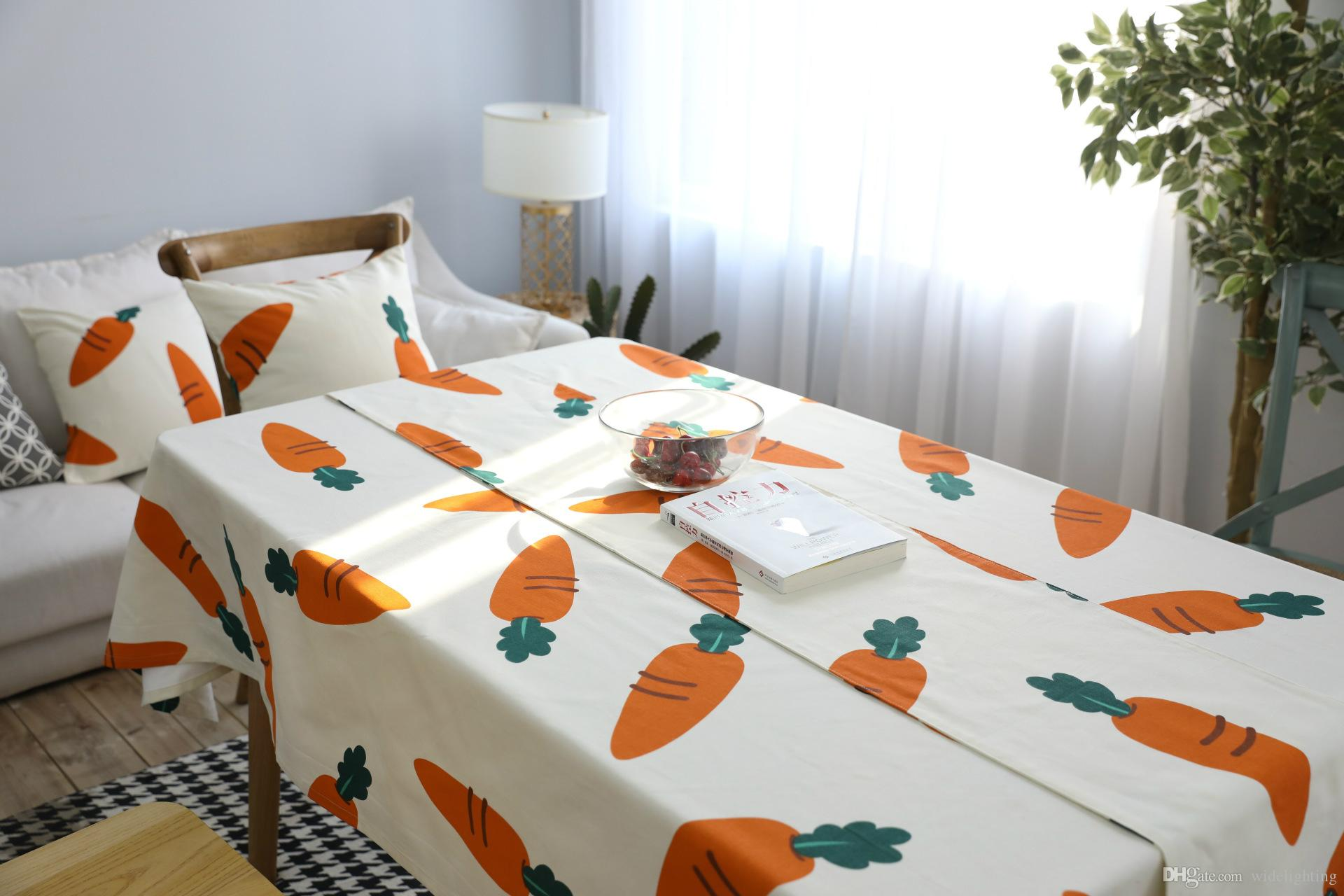 European And American Style Coffee Table Cloth Carrot Creative