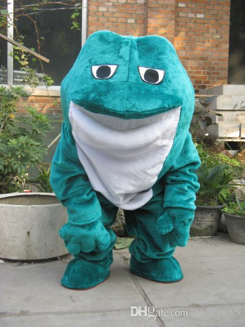 Hot Sale Cartoon Movie Character Real Pictures Grenouille Costume De Mascotte Taille Adulte Livraison gratuite
