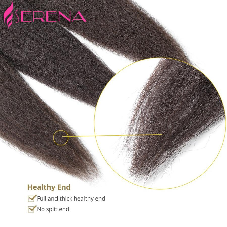8A Mongolian Kinky Straight Hair With Closure,Lace Closure With 3 Bundles Coarse Italian Yaki Virgin Hair Human Hair Weave