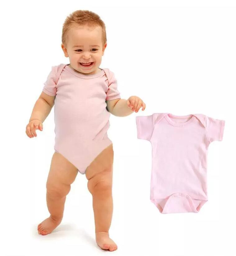 Baby Rompers Suit Summer Infant Triangle Romper Onesies 100% Cotton Short Sleeved Babies Clothes Boy Girl Pure White Full Sizes In Stock